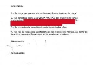 #queja al registro
