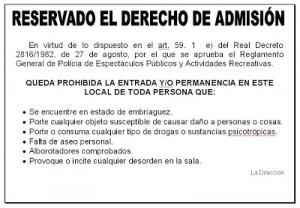 #derecho de admision