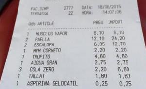 #aspirinas en los restaurantes