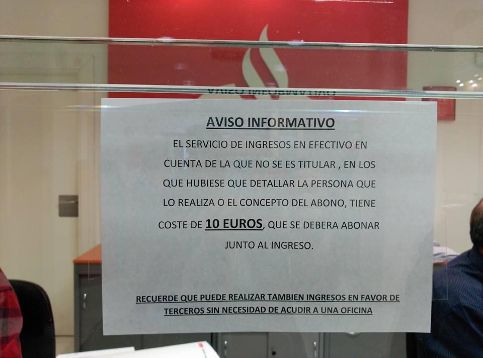 #Pequeños ingresos en la cuenta de un tercero