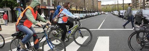 #Ciclistas en los pasos de peatones