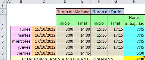 #Registro diario de trabajo